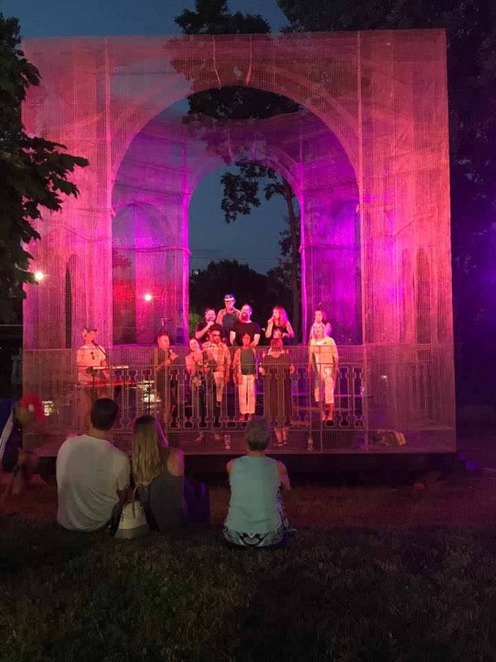 The CollECtive Choir performs at the 2017 Baroque Concert, located next to Phoenix Park in downtown Eau Claire Wi