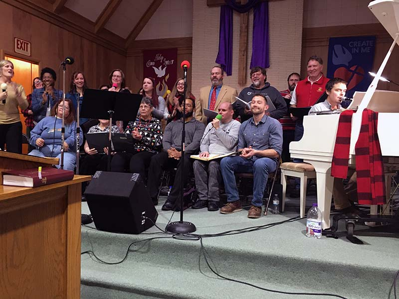The CollECtive Choir performs at the Towering Pines Comunity Church in Cameron Wi.
