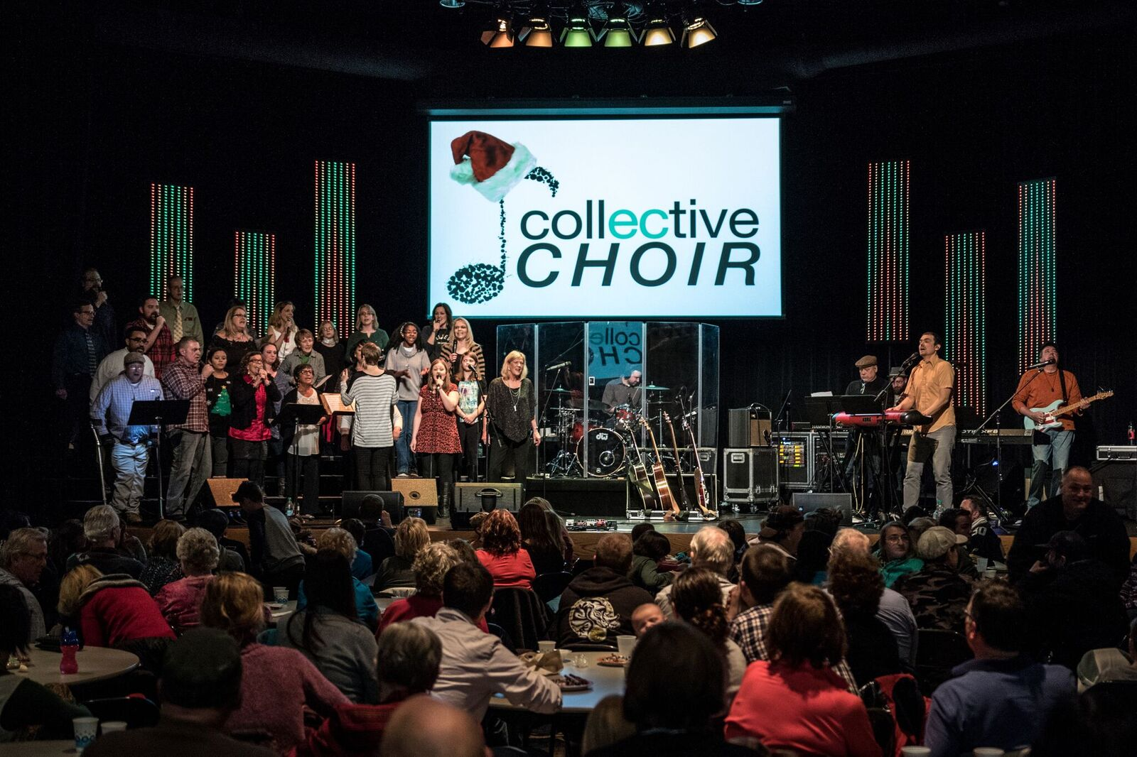 The Collective Choir performs at the 'GO' Concert at Peace Church in Eau Claire Wi 2018.