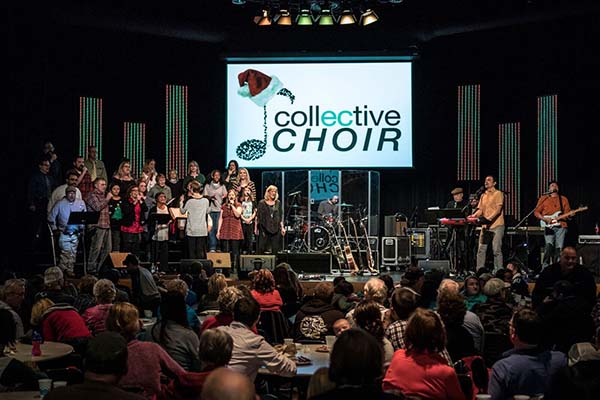 "The CollECtive Choir performs at Peace Church for the Community Christmas ""GO"" Concert in Eau Claire Wi."