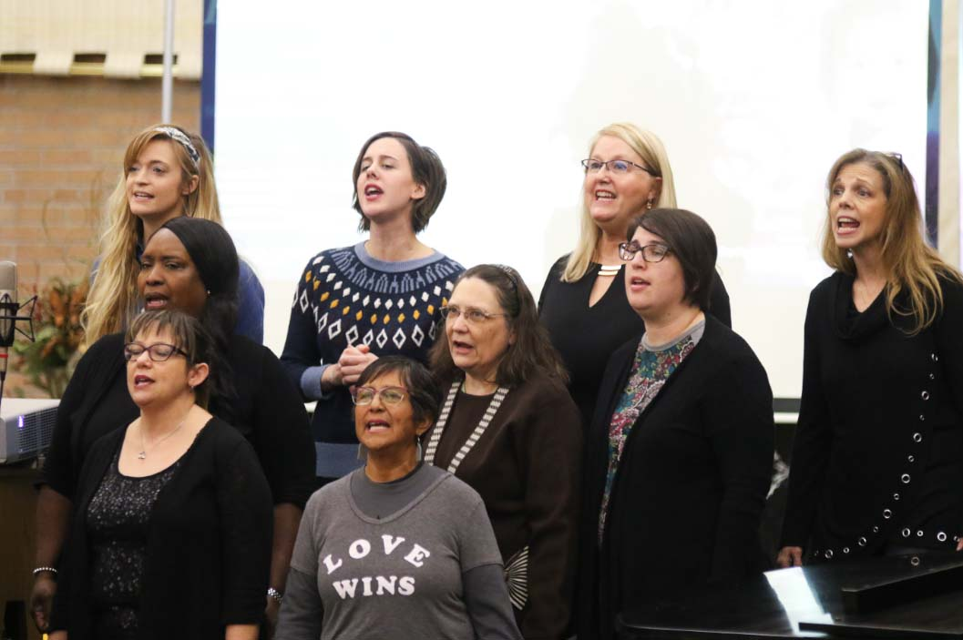 The CollECtive Choir performs at the Martin Luther King Jr. Commemoration at St. James the Greater Catholic Church in Eau Claire, Wi.