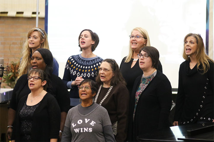 The CollECtive Choir performs at the Martin Luther King Jr. Commemoration at St. James the Greater Catholic Church in Eau Claire Wi.