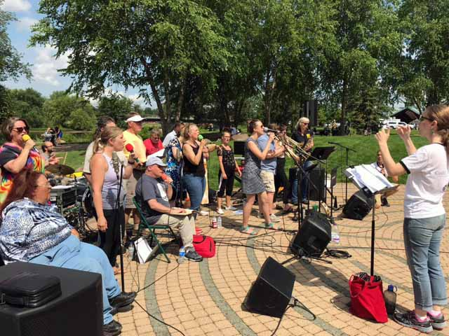 Collective Choir Labyrinth Music in the Park in Eau Claire Wi 071021