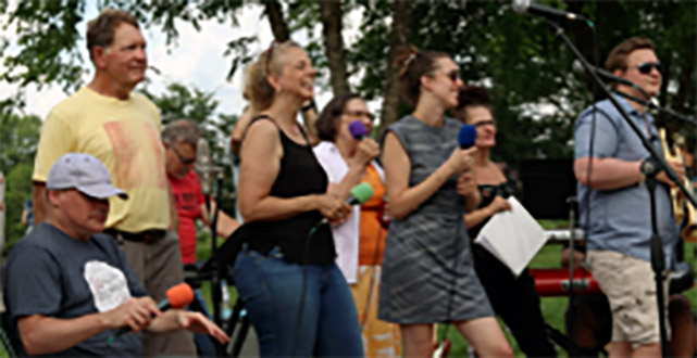 Collective Choir Music in the Park in Eau Claire Wi 071021