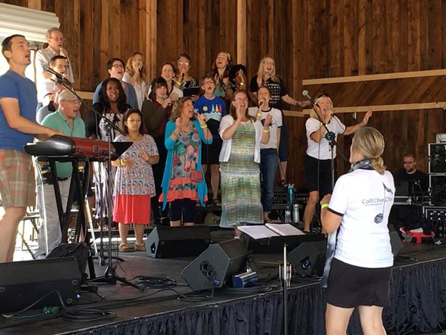The CollECtive Choir performs at 'One Fest' located at the Chippewa County Fair Grounds in Wi