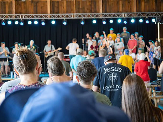 Collective Choir presents at ONE FEST at the county fairgrounds, Eau Claire 07-24-21