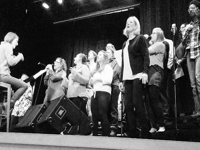 The CollECtive Choir performs at Valleybrook Church in Eau Claire Wi.