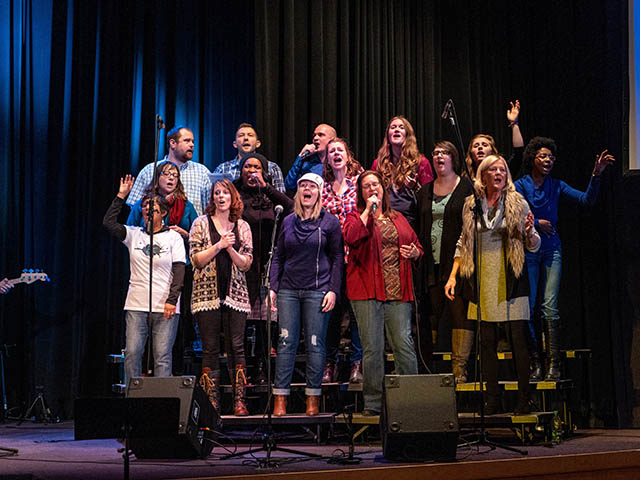 The CollECtive Choir performs Valleybrook Church in Eau Claire Wi.