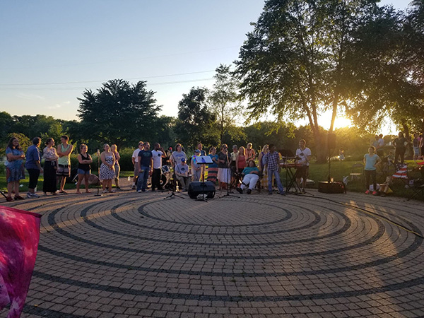 The CollECtive Choir presented their testimonies with song and praise at Phoenix Park in Eau Claire.