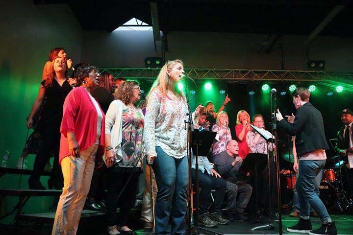 Our home town Hip Hop CollECtive Choir members perform at The Metro in Eau Claire Wi